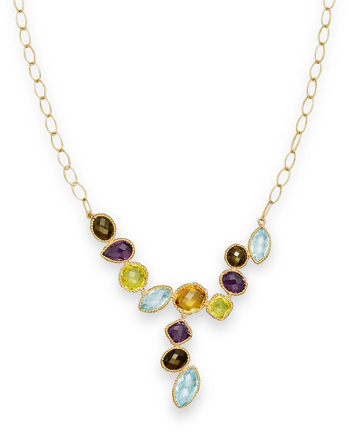 """Bloomingdale's - Multi Gemstone Necklace in 14K Yellow Gold, 18""""- 100% Exclusive"""