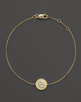 KC Designs - Diamond Pavé Initial Bracelet, .02  - .05 ct. t.w.