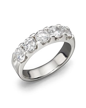 Bloomingdale's - Certified Diamond 5 Stone Band in 18K White Gold, 2 ct. t.w. - 100% Exclusive