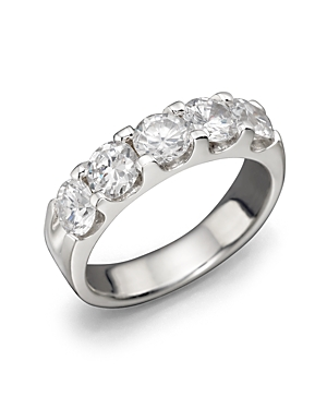 Certified Diamond 5 Station Band in 18K White Gold, 2.0 ct. t.w. - 100% Exclusive
