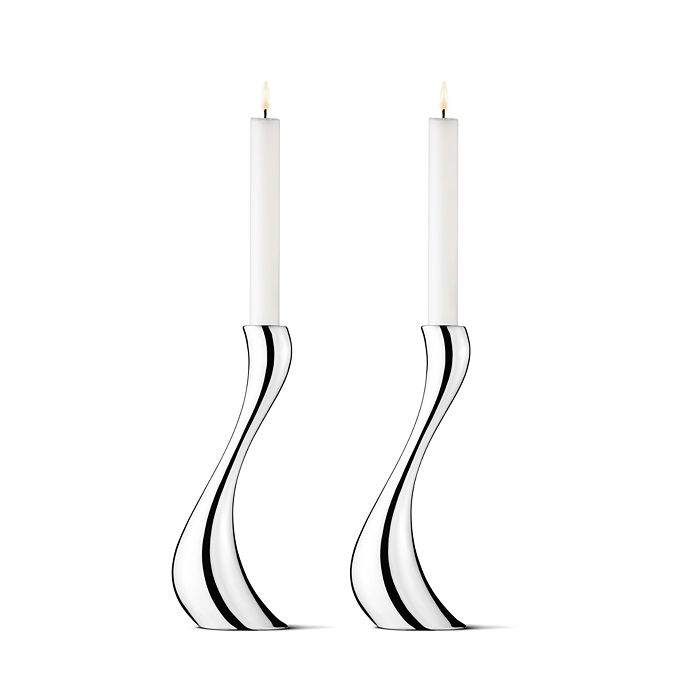 Georg Jensen - Cobra Large Candleholder, Set of 2