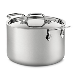 All-Clad - d5 Stainless Brushed Steel 4-Quart Soup Pot with Lid