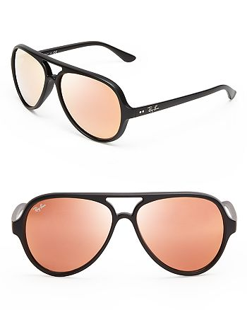 Ray-Ban - Unisex Matte Mirrored Aviator Sunglasses
