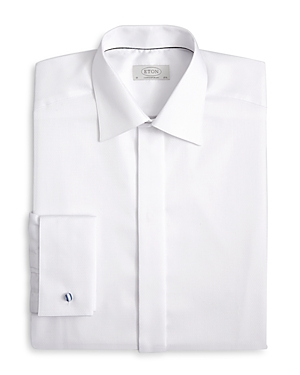 An expertly crafted formal dress shirt endures over time with Eton\\\'s premier tailoring in soft, finished cotton.