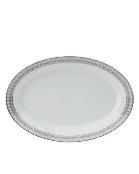 Philippe Deshoulieres - Arcades Green Oval Dish
