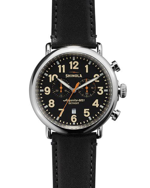 Shinola - The Runwell Chronograph Black Watch, 47mm