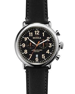 Shinola The Runwell Chronograph Black Watch, 47mm-Jewelry & Accessories