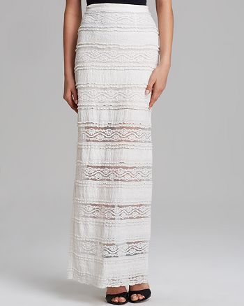 Alice and Olivia - Ettley Lace Maxi Skirt