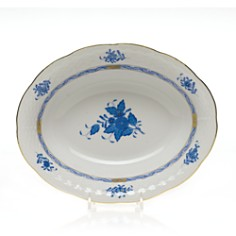 Herend Chinese Bouquet Blue Oval Vegetable Dish - Bloomingdale's_0