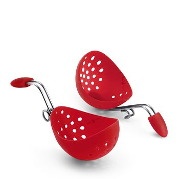Cuisipro - Cuisipro Egg Poacher 2-Piece Set, Red