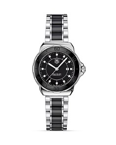 TAG Heuer Formula 1 Stainless Steel and Black Ceramic Watch With Diamonds, 32mm - Bloomingdale's_0