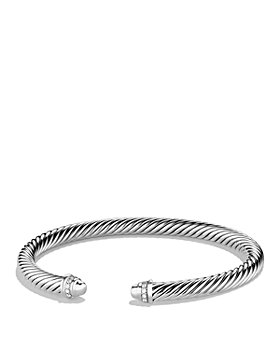 David Yurman - Cable Classics Bracelet with Diamonds, 5mm