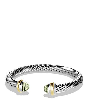 David Yurman - Cable Classics Bracelet with Prasiolite and Gold