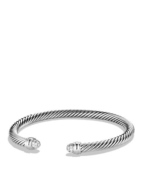 David Yurman Cable Clics Bracelet With Diamonds