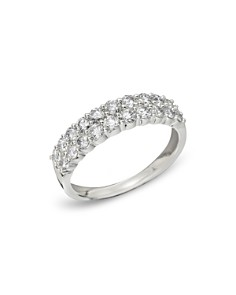 Bloomingdale's - 14K White Gold Diamond Double Row Band, .50 ct. t.w.- 100% Exclusive