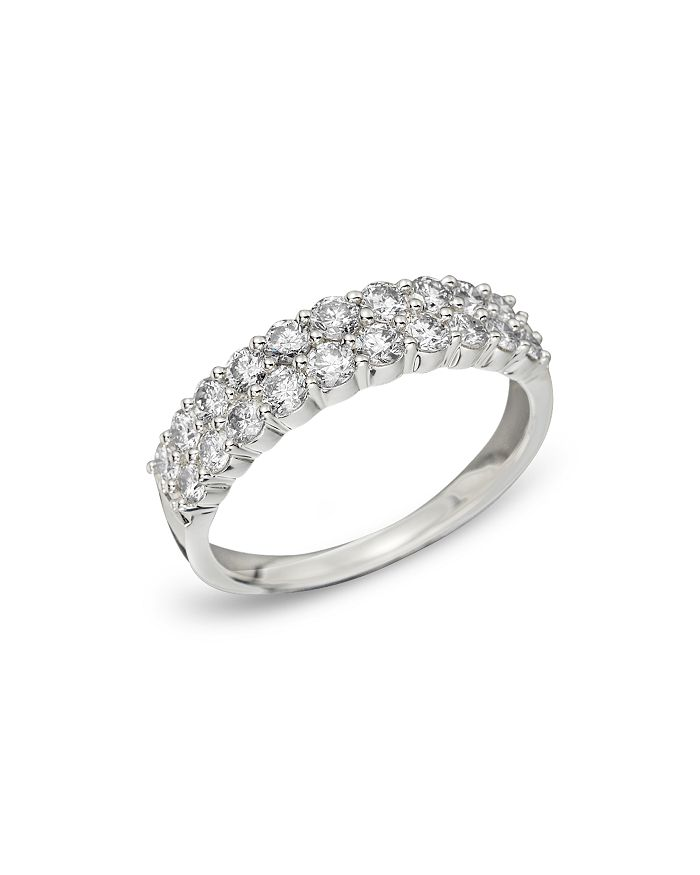Bloomingdale's - 14K White Gold Diamond Double Row Band, .50 ct. t.w. - 100% Exclusive