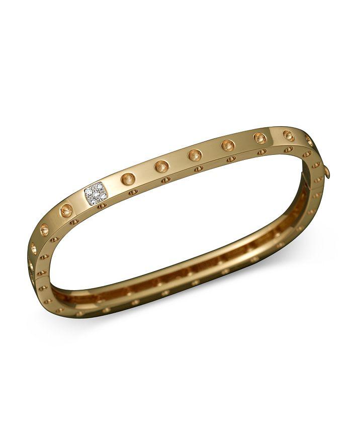 Roberto Coin - Roberto Coin 18K Yellow Gold Pois Moi Single Row Diamond Bracelet