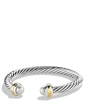 David Yurman - Cable Classics Bracelet with Pearls and Gold