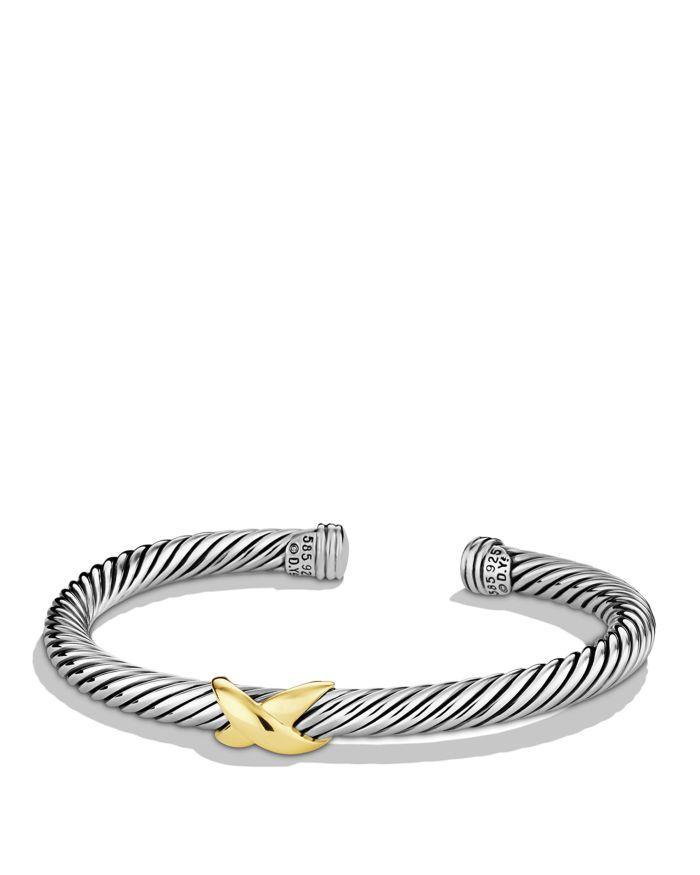 David Yurman X Bracelet with 14K Gold  | Bloomingdale's
