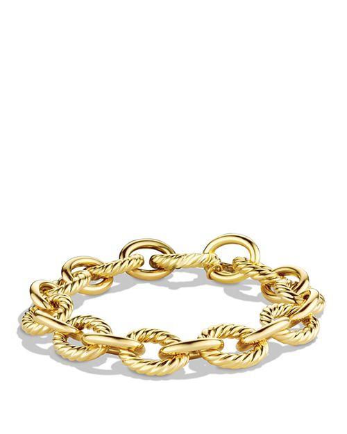 David Yurman - Oval Large Link Bracelet in Gold