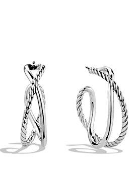 David Yurman - Crossover Hoop Earrings
