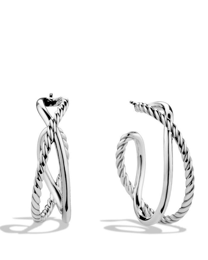 David Yurman Crossover Hoop Earrings  | Bloomingdale's
