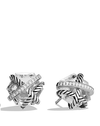David Yurman - Cable Wrap Earrings with Crystal and Diamonds