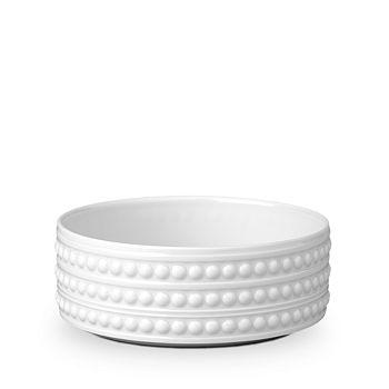 """L'Objet - Perlee White 5"""" Vertical Bowl"""