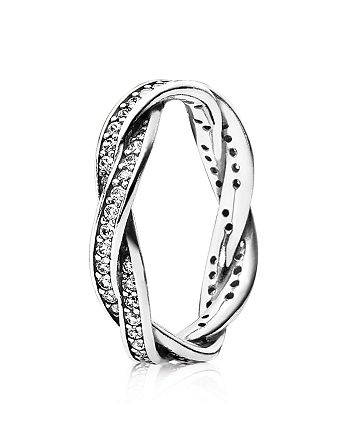 Pandora - Sterling Silver & Cubic Zirconia Twist of Fate Ring
