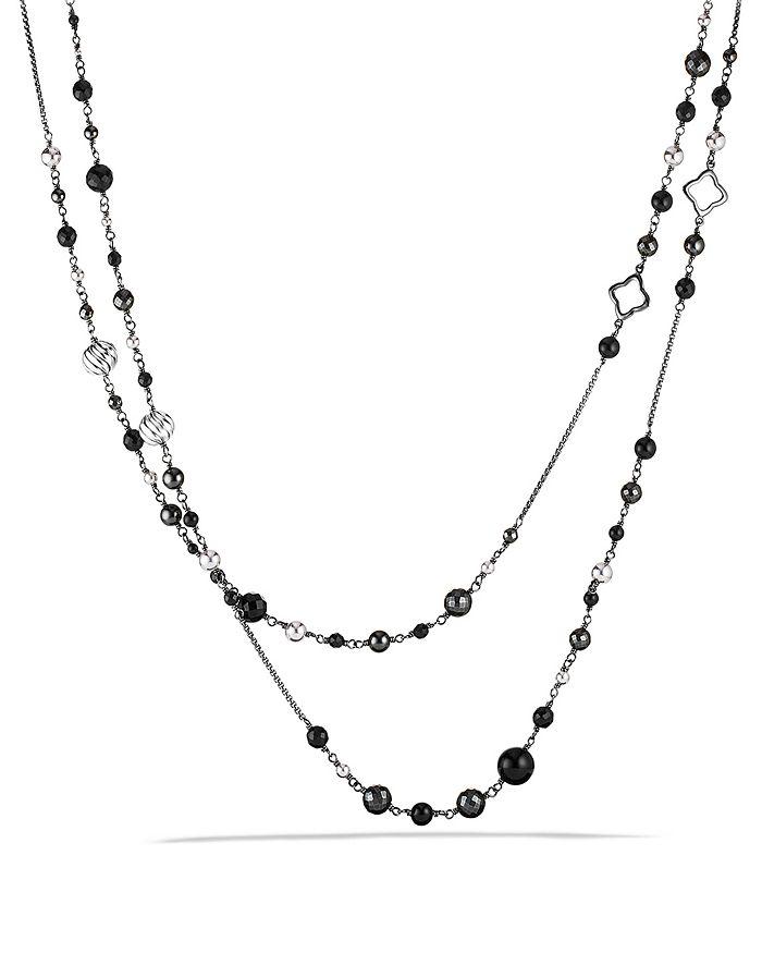 David Yurman - DY Elements Chain Necklace with Black Onyx & Hematine