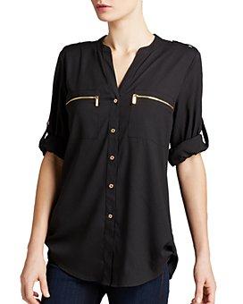 Calvin Klein - Zip Pocket Roll Sleeve Shirt