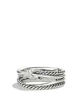 David Yurman - X Collection Ring with Diamonds