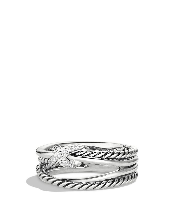 David Yurman - X Collection Ring with Diamonds