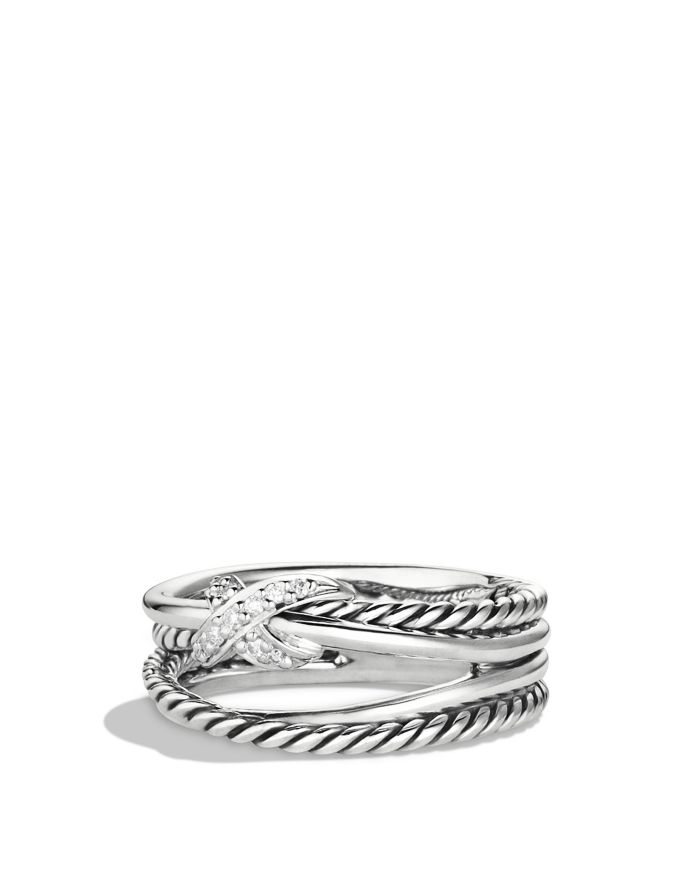 David Yurman X Collection Ring with Diamonds  | Bloomingdale's
