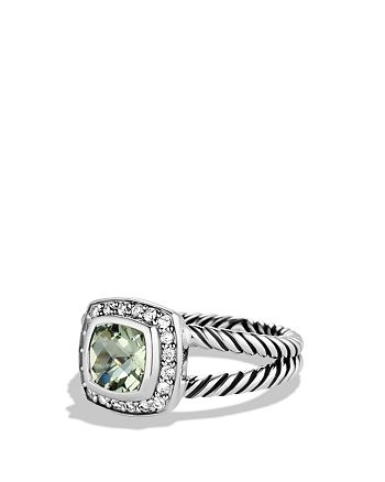 David Yurman - Petite Albion Ring with Prasiolite & Diamonds