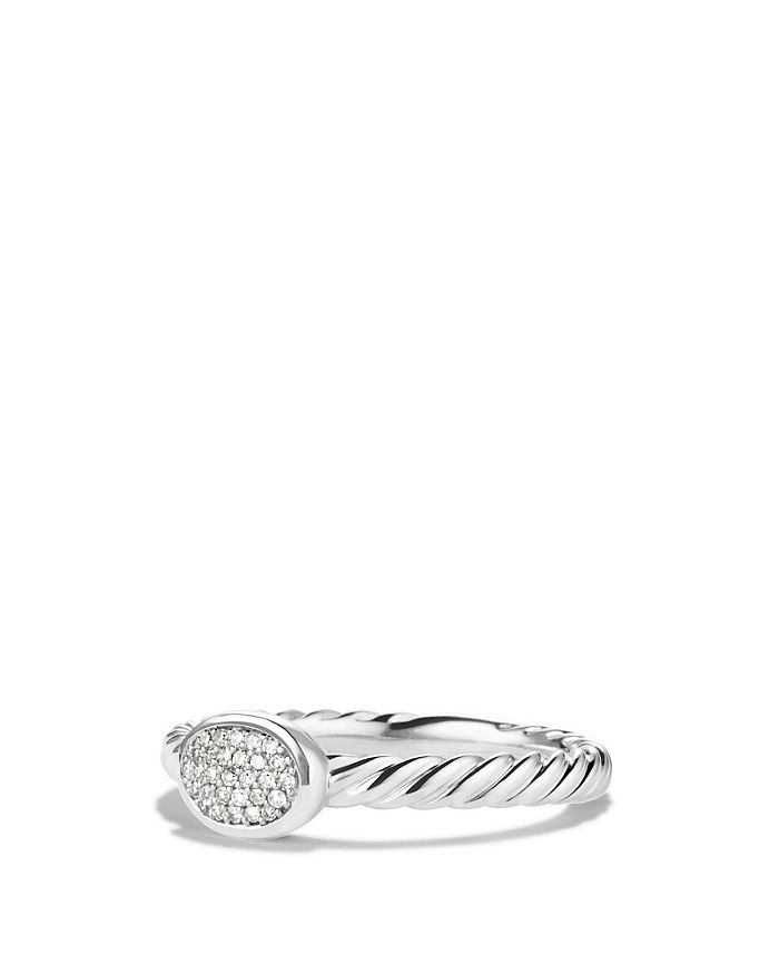 David Yurman - Cable Collectibles Oval Ring with Diamonds