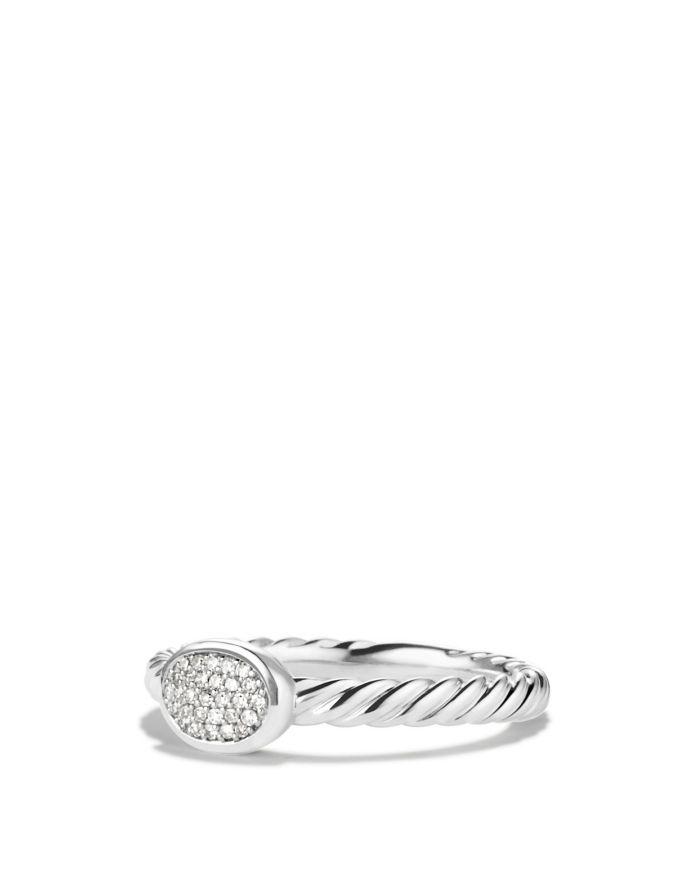 David Yurman Petite Pavé Oval Ring with Diamonds    Bloomingdale's