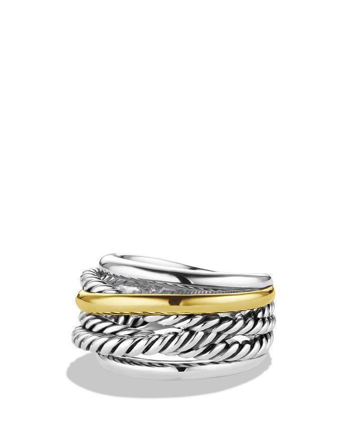 David Yurman - Crossover Narrow Ring with Gold