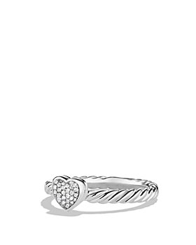 David Yurman - Petite Pavé Heart Ring with Diamonds
