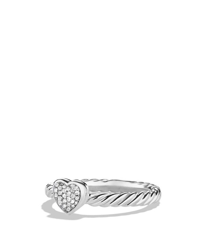 David Yurman Petite Pavé Heart Ring with Diamonds    Bloomingdale's