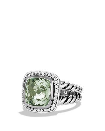David Yurman - Albion Ring with Prasiolite and Diamonds