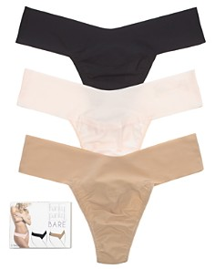 Hanky Panky - Bare Natural Rise Thongs, Set of 3