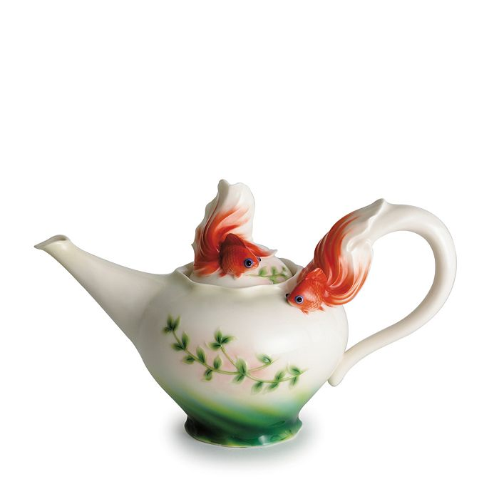Franz Collection - Goldfish Teapot