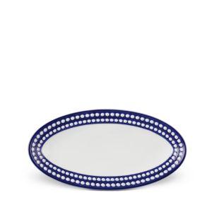 L'Objet Perlee Bleu Oval Platter, Small