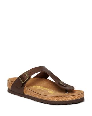 Birkenstock Flat Thong Sandals - Gizeh In Toffee