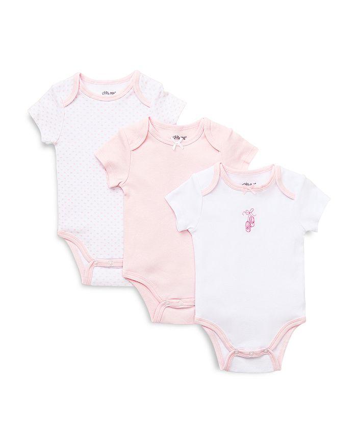 Little Me - Girls' Prima Ballerina Bodysuit, 3 Pack - Baby