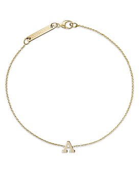 Zoë Chicco - 14K Yellow Gold Initial Bracelet