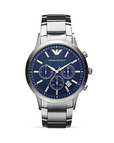 Emporio Armani Quartz Chronograph Stainless Steel Watch, 43 mm - Bloomingdale's_0