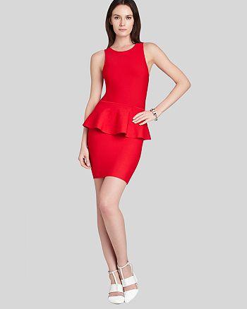 BCBGMAXAZRIA - Francis Layered Peplum Dress