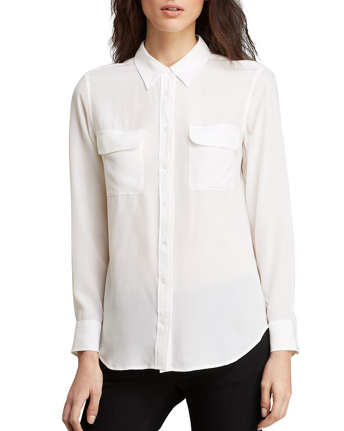 bf96ae5664b8fd Equipment - Slim Signature Silk Shirt